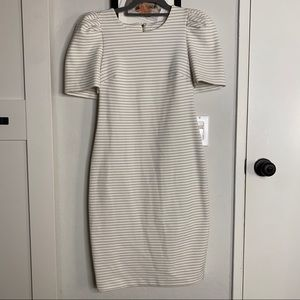 Calvin Klein Short Sleeve Striped Dress NWT